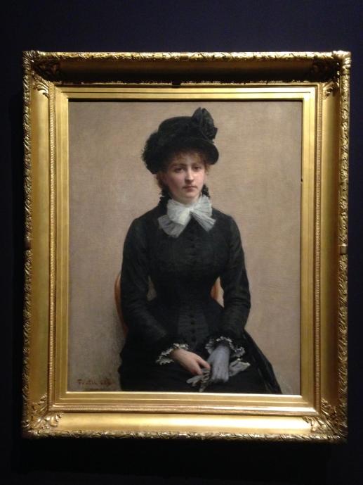 """""""Portrait de Louise Riesener"""" 1880 Grenoble Son mari était le petit fils du célèbre ébéniste."""