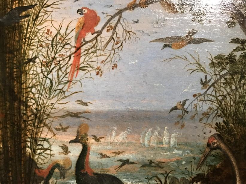 """Roelandt Savery (1576-1639) """"OIseaux"""" Huile sur bois"""
