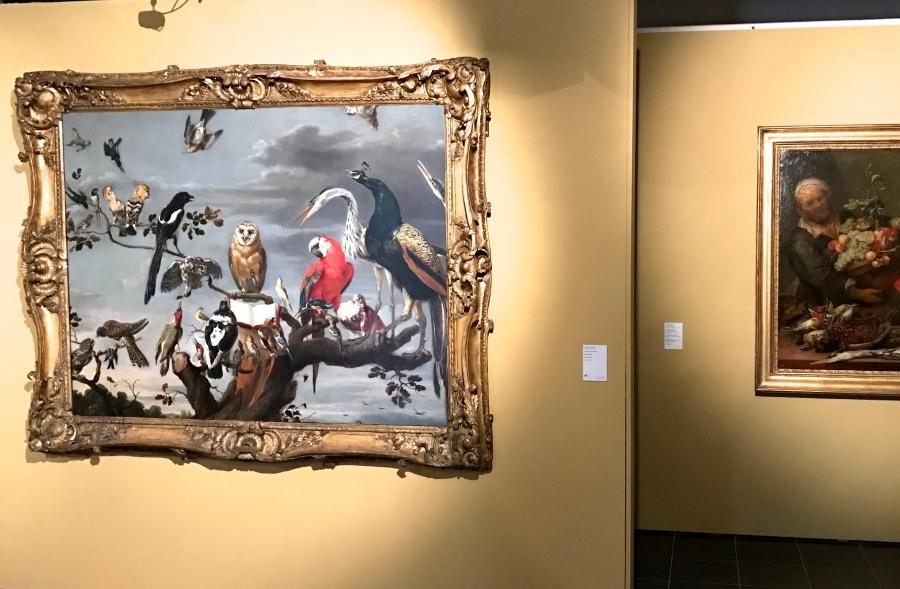 """Frans Snyders (1579-1657) """"Concert des oiseaux"""" Huile sur toile"""