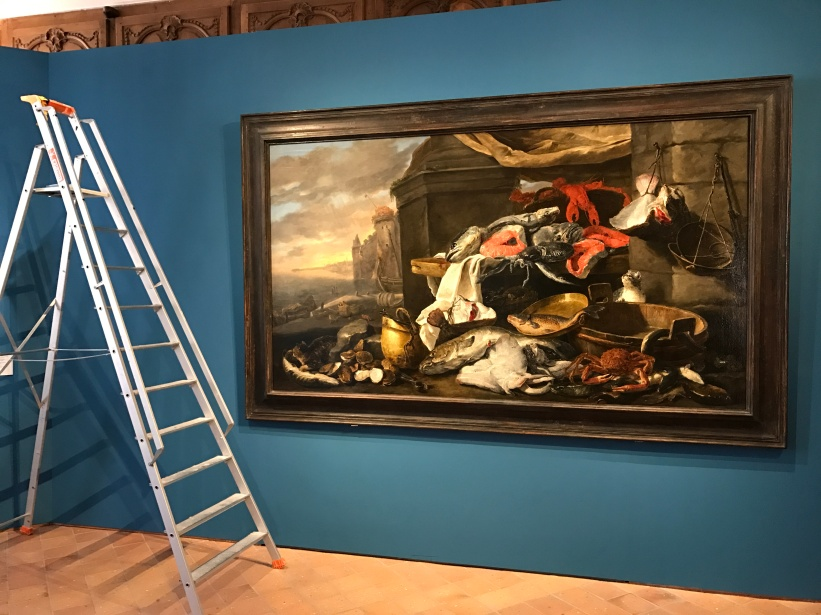"""Jan Fyt (1611-1661) """" Le marché aux poissons"""" Huile sur toile"""