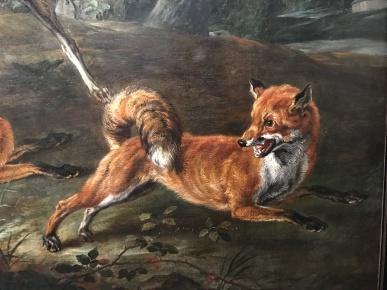 """Jan Fyt """"La chasse aux renards"""" (détail)"""