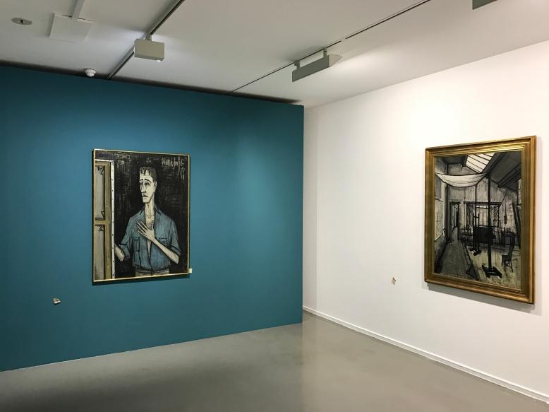 """""""Autoportrait sur fond noir"""" 1956 collection Pierre Bergé"""