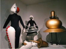 Costumes and set pieces from the Bauhaus theater workshop.