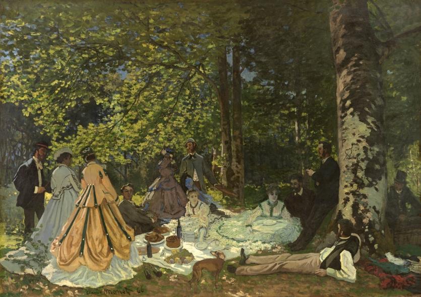 Claude Monet, Le Déjeuner sur l'herbe, 1866 ©Moscou, Musée d'État des Beaux-Arts Pouchkine