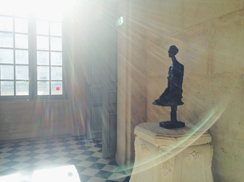The naturally-lit landing on the second floor was the perfect mies-en-scene for this serene Giacometti bust.