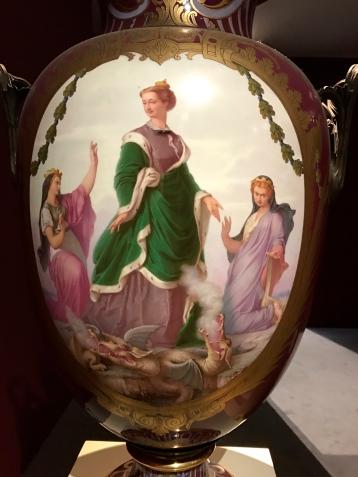 Manufacture impériale de Sèvres. Antoine Léon Brunel Rocque Vase commémoratif de la visite de l'impératrice à Amiens en 1866 - 1867