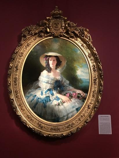 """Franz Xaver Winterhalter """"Portrait de l'Impératrice Eugénie"""" 1857"""
