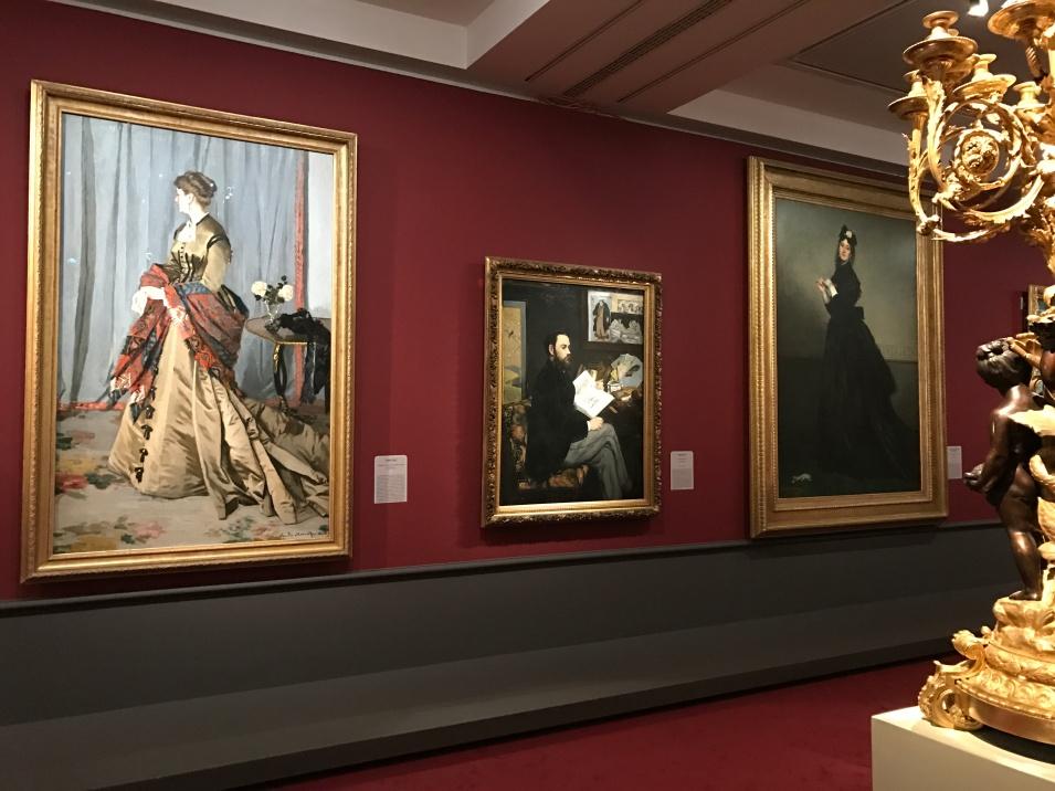 "1-Monet ""Mme Louis Joachim Gaudibert"" 2-Manet ""Emile Zola"""