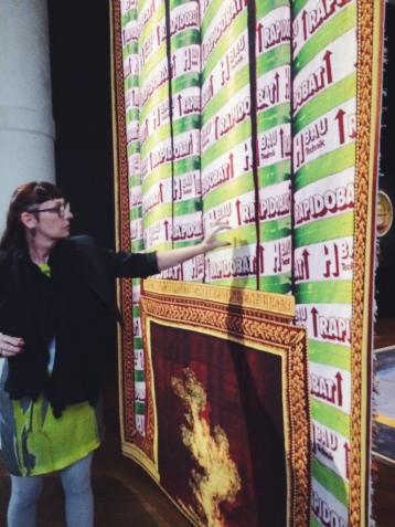 Jacques Vieille À l'Egyptienne, 2016 (diptyque)Manufacture des Gobelins, 3,15 x 2,02 m 27 kg de laine, 32 couleurs, 1698 jours de tissage