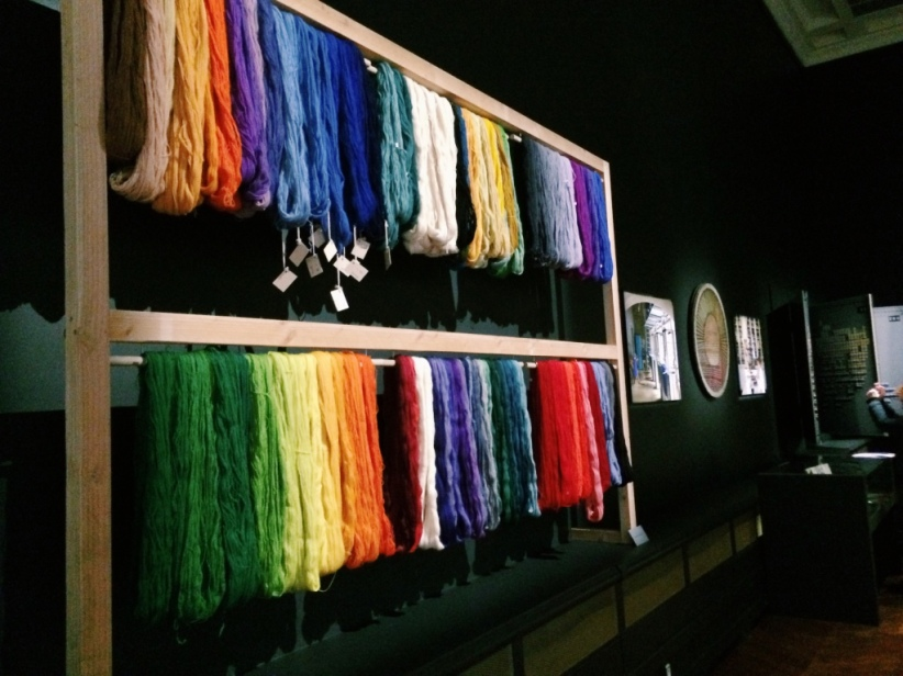 Dyed yarn from the factory's store