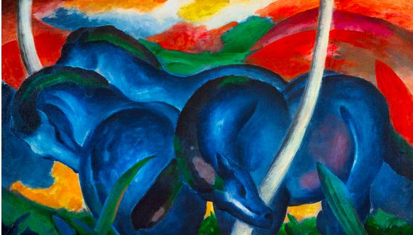 Franz Marc Les grande chevaux bleus, 1911