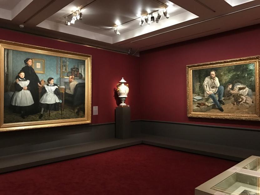 """Edouard Degas """"La famille Bellelli"""" Gustave Courbet Gustave Courbet """"P. J. Proudhon et ses enfants"""" ©Thegazeofaparisienne"""