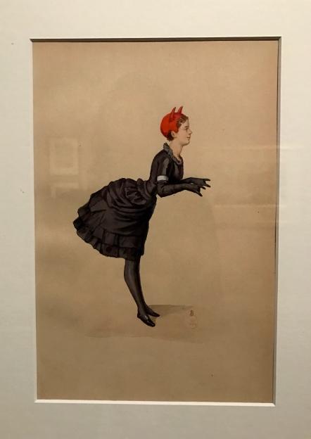 """Théodore Gudin """"La princesse de Metternich en diable noir"""" 1864 (bal du Ministère de la Marine)"""