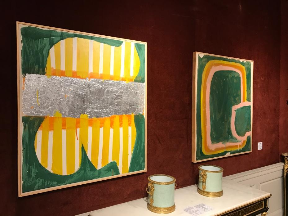 """Photo souvenir : Daniel Buren """"peinture sur papier"""" mai 1965 """"Peinture sur papier"""" janvier-mai 1965"""