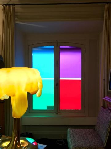 Bureau de Jean-Marie Rossi - Envers du décor. © Daniel Buren / ADAGP, Paris