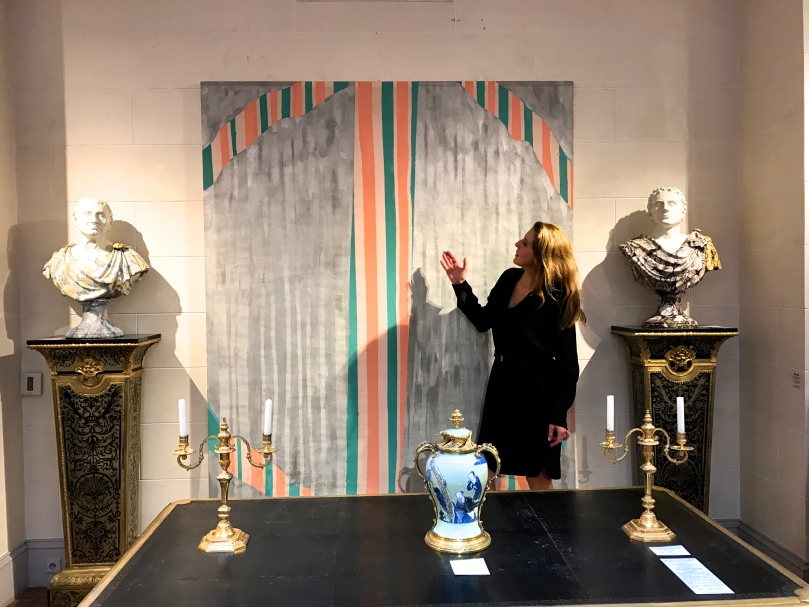 Photo souvenir Daniel Buren Le Grand Losange', travail in situ, Galleria Continua chez Galerie Aveline Jean-Marie Rossi, Paris, Octobre 2016 © Daniel Buren / ADAGP, Paris