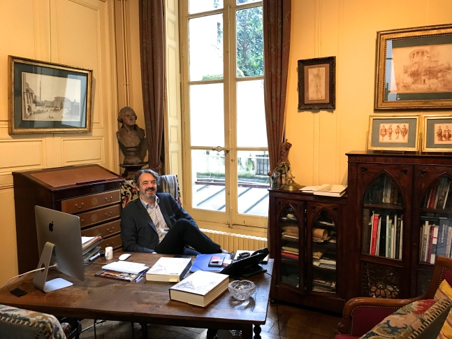 Patrick de Bayser in his office (find what's different!) ©ThegazeofaParisiene
