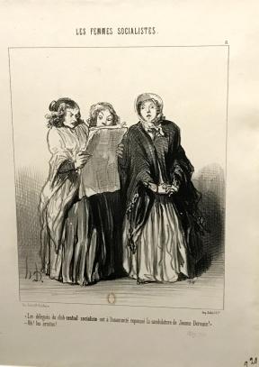 """Honoré Daumier """"Les Femmes socialistes"""" Publié dans le Charivari, 1849"""