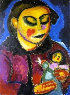 Girl with doll, ca. 1912, Oil on board, Callimanopulos Collection, New-York.