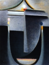 Abstract Head : Inner Vision-Night, 1932, Oil on board, Philadelphia Museum of Art, The Louise and Walter Arnsberg Collection, 1950.
