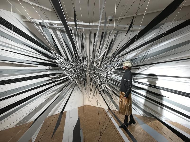 "Installation du Centre Pompidou ""Illusory perspectives"""