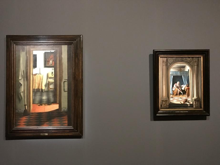 Samuel Van Hoogstraten, Intérieur hollandais (« Les Pantoufles »), Paris, Musée du Louvre Jan Steen, Femme à sa toilette, Londres, Royal Collection Trust © Royal Collection Trust/ Her Majesty Queen Elizabeth II 2016