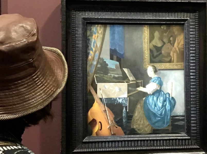 Johannes Vermeer (Delft 1632-1675) Jeune femme assise au virginal, Londres, The National Gallery
