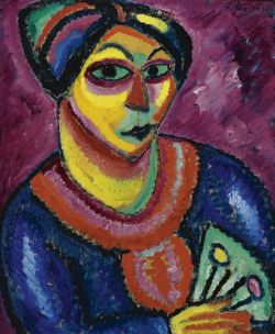 Woman with a Green Fan, 1912, Oil on board, Private Collection, Courtesy Artvera's Gallery.