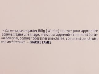 Design et Cinéma, une amitié et une influence entre le couple Charles et Ray Eames et le cinéaste Billy Wilder