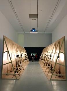 """Scénographie de l'exposition """"Popcorn"""" au musée d'Art Moderne et Contemporain de Saint-Etienne"""