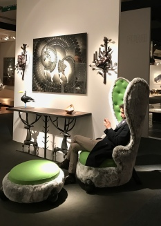 "fauteuil ""Lapin"" 2012 HUBERT LE GALL, Galerie DUMONTEIL"
