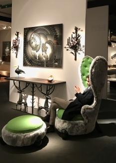 "fauteuil ""Lapin"" 2012 HUBERT LE GALL, Galerie DUMONTEIL"