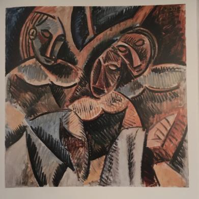 Pablo Picasso Trois figures sous un arbre 1907 1908. Musee Picasso Paris