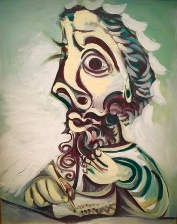 Pablo Picasso 1971 Mougins Buste d'homme écrivant Musee Picasso Paris
