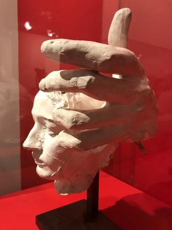 """Rodin """"Masque de Camille Claudel et main gauche de Pierre de Wissant (bourgeois de Calais)"""""""