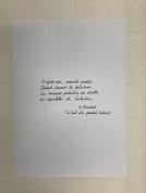 Texte de Rimbaud faisant partie de l'oeuvre