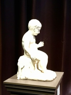 Sculpture en marbre de St Jean-Baptiste enfant, ANTONIO CANOVA et Atelier, circa 1821, Galerie TREBOSC - VAN LELYVELD