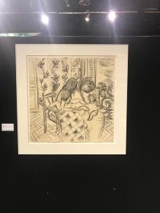 HENRI MATISSE (1869-1954) Adjugé 1160000 € hors frais Deux femmes et un enfant dans un intérieur, fenêtre ouverte, janvier 1939. Fusain et estompe sur papier. Signée et datée en bas à gauche «Henri Matisse 1939». 61 x 61 cm... Est : 100/150000