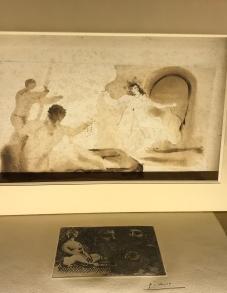 lot 42 André Derain (1880-1954) Bacchus et danseuse, Crayon noir et lavis brun sur papier, cachet de l'atelier en bas à droite 27,5 x 46,5 cm Provenance > Galerie Lucie Weill, 6 rue Bonaparte 75006 Paris (étiquette au dos) Insolé, taches. Restauration 500 / 600 €
