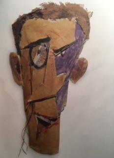 """Marcel Janco """"Masque assemblage- Portrait de Tzara 1919- Paris centre Pompidou- MNAM-CCI"""