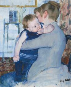 Mary Cassatt Bébé regardant par dessus l'épaule de sa mère © Musée Jacquemart André