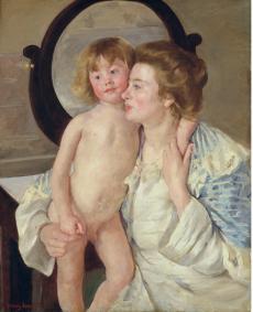 Mary Cassatt La mère et l'enfant, Le miroir ovale © Musée Jacquemart André
