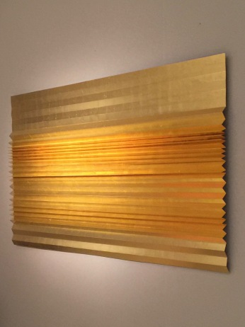 Galerie MARIA WETTERGREN, My Golden Horizon III by Astrid Krogh 2017, gold leaf on pleated metal,
