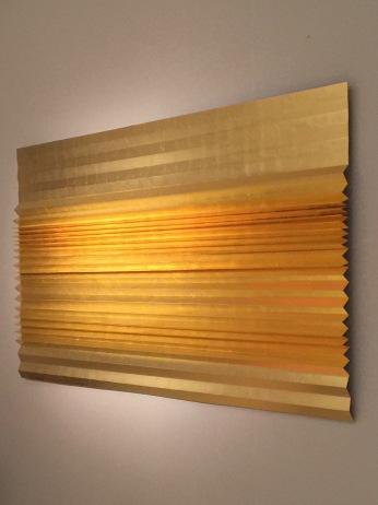 Galerie MARIA WETTERGREN, My Golden Horizon III by Astrid Krogh 2017, gold leaf on pleated metal,