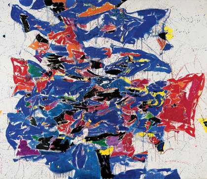 Sam Francis Blue, 1958 Washington, The Phillips Collection, et detail à droite