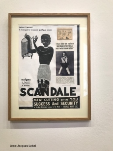 Jean-Jacques Lebel - Eloge de Christine Keeler, la gaine Scandale, 1964 - Collage sur bois - Coll. Michel et Martine Brossard