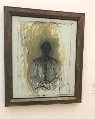 Giacometti Portrait homme à mi corps (autoportrait) ©thegazeofaparisienne
