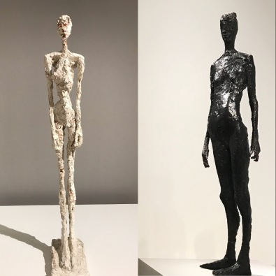"Alberto Giacometti ""Grande femme"" 1958 et Germaine Richier ""La feuille"" 1948"