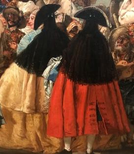 "Giandomenico Tiepolo (1727-1801) ""Scène de carnaval"" (détail)"