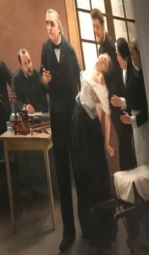 André Brouillet (1857-1914) Une leçon clinique à la Salpétrière 1987 (détail)